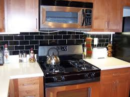 black backsplash kitchen black backsplash in kitchen awesome black subway tile backsplash
