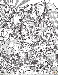 doodle collage by jazzy coloring page free printable coloring pages