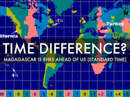 Time Difference Map Madagascar By Mathew Ocasio