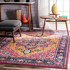 Brown And Orange Area Rug Amazon Com Traditional Vintage Katrina Blooming Rosette Orange