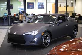 frs scion toyota of plano scion fr s matte black wrap car wrap city