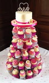Wedding Cake Leeds Olive Green And Pink Of Wedding Cupcake Tower With Top Cake