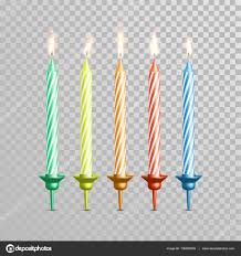 birthday candle birthday candles for wedding cake color vector candle set stock