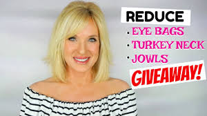 hairstyles to hide jowls giveaway reduce eye bags jowls turkey neck youtube