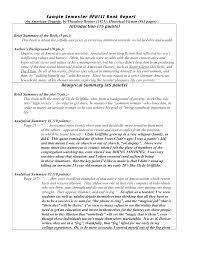 college book report template sle of college book report