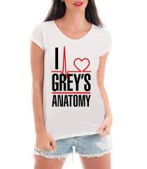 Super Camiseta Feminina Blusa I Love Grey's Anatomy Frases Séries  #RA77