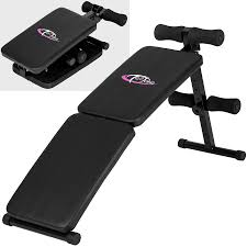 stay fit in your own home foldable sit up bench abdominal ab crunch exerciser home gym