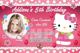 hello kitty birthday invitation card template