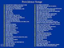 Theme Song For Seeking Providence Songs A Until The End Of Time I Will Him