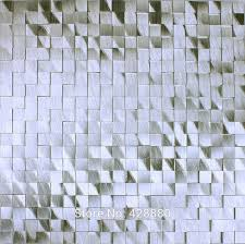 metallic tile mosaic stickers brushed interior aluminum wall