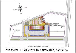 Bus Terminal Floor Plan Design Inter State Bus Terminus Bathinda Punjab
