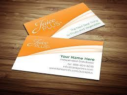 Medical Business Card Design Juice Plus Business Card Design 3