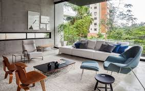 Midcentury Modern Decor - brazilian modern poised multi level family home in sao paulo