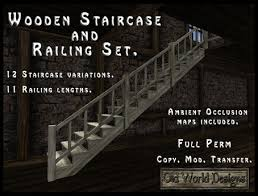 Banister Research Second Life Marketplace Wooden Staircase Banister And Railings