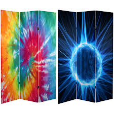 Canvas Room Divider 6 Ft Tall Tie Dye Canvas Room Divider Roomdividers Com