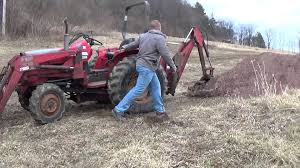 massey ferguson 1035 4wd with loader and backhoe youtube