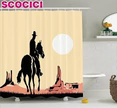 Cowboy Curtain Rods by Curtains Western Shower Curtains And Bath Accessories Western