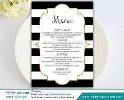 editable menu templates diy printable wedding menu template instant editable