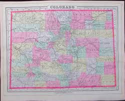 Map Of Colorado Cities by The Latitude U0026 Longitude Of Collectible Maps