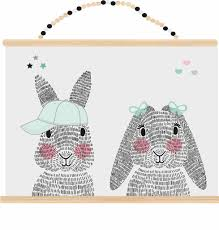 rabbit poster sparkling paper poster mr and mrs rabbit sparkling paper wholesale