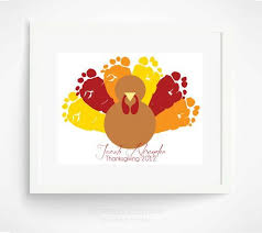 thanksgiving decoration turkey baby footprint baby s