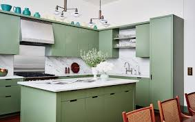 benjamin green kitchen cabinets green kitchens are a moment architectural digest