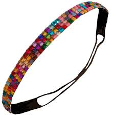 sparkly headbands rhinestone glitter headband rainbow