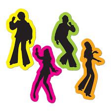 70 u0027s disco dancers neon silhouettes cutouts birthday party dance