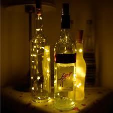 silver wine bottles wine bottle cork fairy lights bottle stopper led string 2m silver