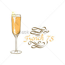 cocktail vector french 75 cocktail vector image 1827090 stockunlimited