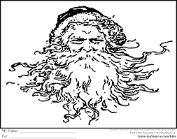 father christmas coloring pages ginormasource kids