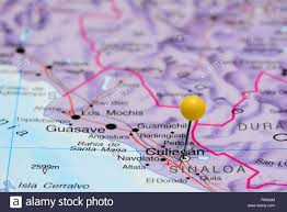 Map Of Guadalajara Mexico by Culiacan Pinned On A Map Of Mexico Stock Photo Royalty Free Image