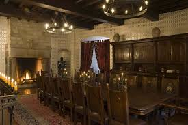 Main Dining Room On Second Level Medieval Castle De Montbrun - Castle dining room