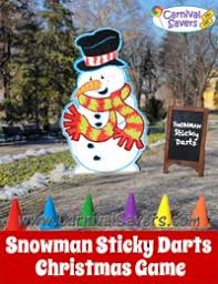 Easy Christmas Games Party - snowman sticky darts christmas carnival game darts game http