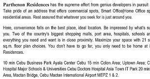 parthenon residences condominium cebu city cebu philippine