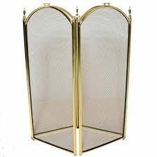 4 fold fireplace screen polished brass northline express