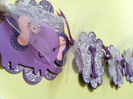 purple elephant baby shower decorations its a girl baby banner baby shower decoration elephant and paisley