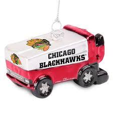 chicago blackhawks glitter zamboni ornament shop nhl