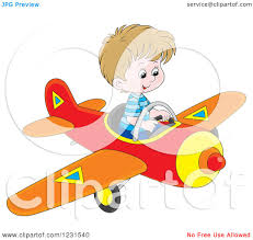 royalty free rf clipart illustration of a cute plane flying a