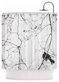 White Shower Curtain Qing Ji