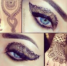 henna eye makeup 9 best henna make up images on make up looks beauty