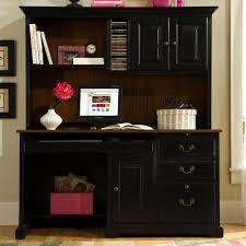 Desk With Hutch Black Black Computer Desk Hutch Home Design Ideas To