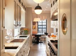 Black Galley Kitchen - modern galley kitchen design double built in oven rectangle