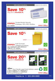 bureau en gros iquette staples business flyer april 11 to 24