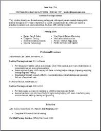 nursing assistant resume certified nursing assistant resume exles sles free edit with