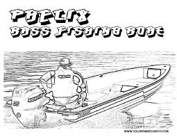 bass boat clipart 9