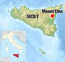 Italy On The World Map by She U0027s Smoking Mount Etna Puffs Out Dozens Of Rings Measuring