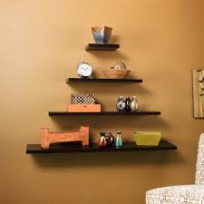 Shelf Designs Teak Floating Shelves Aesthetical Point And Storage Space