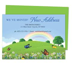 Openoffice Business Card Template Hillside Moving Announcement Card Templates Just Moved Easy To