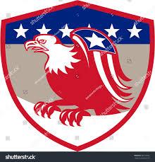 Eagles Flag Illustration American Bald Eagle Flag Star Stock Illustration